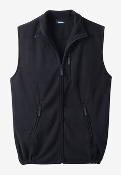 Explorer Fleece Zip Vest, BLACK