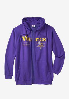 NFL® Full Zip Hoodie, VIKINGS