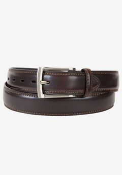 Leather Feather Edge Belt by Dockers®, BROWN, hi-res