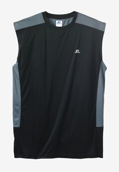 Dri-Power Performance Muscle Tee by Russell Athletic®, BLACK CHARCOAL, hi-res