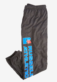 Elastic Cuff Logo Pants by Russell Athletic®, HEATHER CHARCOAL, hi-res