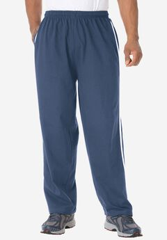Lightweight Sweat Pants with Racing Stripes, CROWN BLUE, hi-res