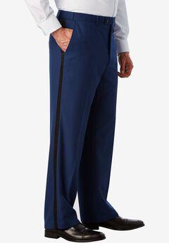Plain Front Tuxedo Pants by KS Signature, BLUE