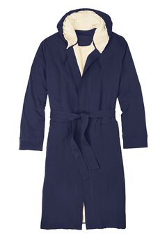 Sherpa-Lined Robe, NAVY