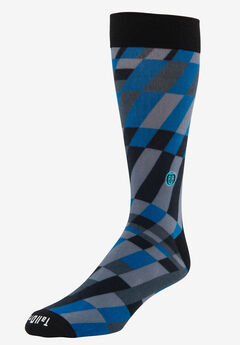 TallOrder: The Earl Sock, BLUE MODERN GRID, hi-res