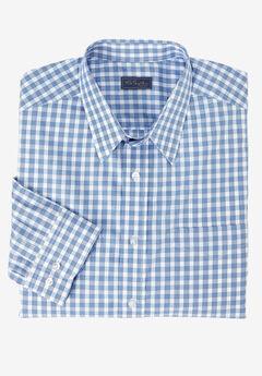 Classic Fit Broadcloth Flex Long-Sleeve Dress Shirt by KS Signature, BLUE CHECK, hi-res