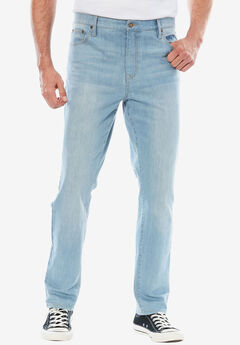 d5034b84b404 Straight Fit 5-Pocket Stretch Jeans by Liberty Blues®