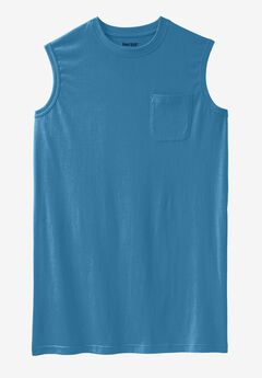Longer-Length Lightweight Muscle Tee, ATLANTIC, hi-res