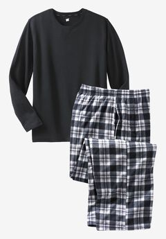 Hanes® X-Temp Pajama Set, BLACK, hi-res