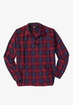 Explorer Fleece Jacket, RICH BURGUNDY PLAID