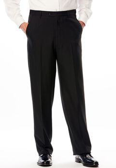 Easy Movement® Plain Front Expandable Suit Separate Dress Pants by KS Signature, BLACK, hi-res