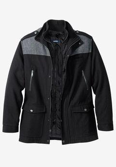 Wool Combat Jacket, BLACK, hi-res