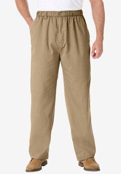 Knockarounds® Plain Front Pants in Twill or Denim, KHAKI