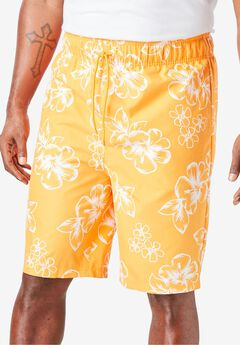 Hibiscus Print Trunks,