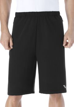 Wicking Fleece Shorts by KS Sport™, BLACK, hi-res