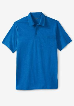 Shrink-Less™  Lightweight Short-Sleeve Polo Tee,