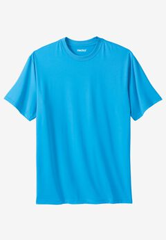 Performance Flex Crewneck Tee, ELECTRIC TURQUOISE, hi-res
