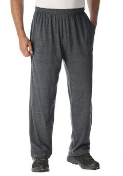 Lightweight Open-Bottom Sweats, HEATHER CHARCOAL, hi-res