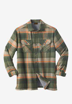 Fleece-Lined Flannel Shirt Jacket by Boulder Creek®,