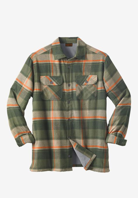 Fleece-Lined Flannel Shirt Jacket by Boulder Creek®  98f4e7ba0b2
