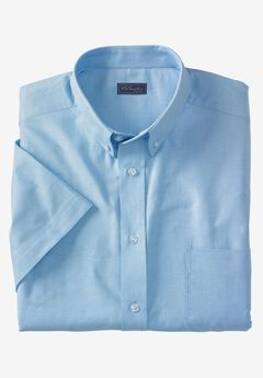 Wrinkle-Resistant Short-Sleeve Oxford Shirt by KS Signature, SKY BLUE, hi-res