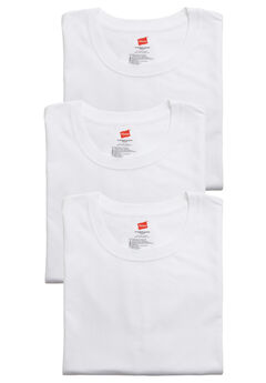 Hanes® Crewneck 3-Pack, WHITE, hi-res