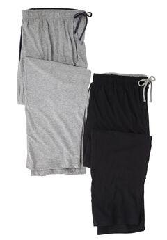 Hanes® 2 Pack Knit Lounge Pants, CHARCOAL BLACK, hi-res