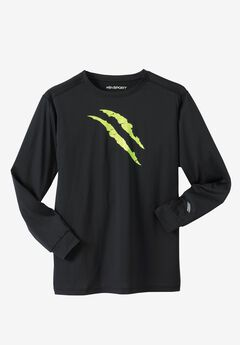X-Absorb Wicking Long-Sleeve Tee by KS Sport™,