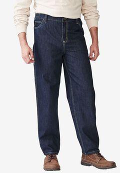 Relaxed Fit Carpenter Jeans by Boulder Creek®, DARK INDIGO, hi-res