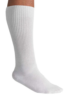 Diabetic Over-The-Calf Socks, WHITE