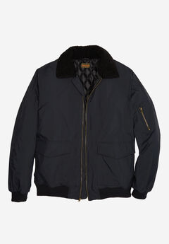 Aviator Bomber Jacket by Boulder Creek®, BLACK, hi-res