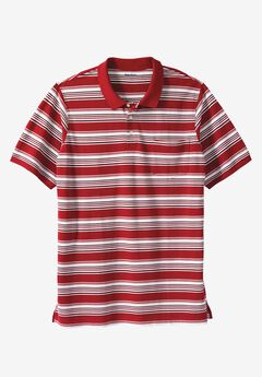 Longer-Length Piqué Pocket Polo,