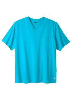 Comfort Cool V-neck Tee by KS Sport™, ELECTRIC TURQUOISE, hi-res