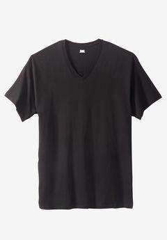 Hanes® FreshIQ™ ComfortBlend® V-neck 3-Pack, BLACK, hi-res