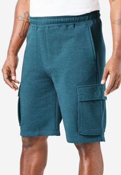 Elastic Waist Cargo Shorts,