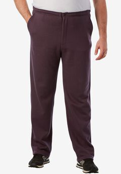 Fleece Zip Fly Pants,
