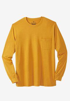 Crewneck Flex Long-Sleeve Tee by Liberty Blues®, HEATHER GOLD, hi-res