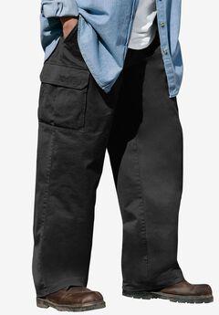 Renegade Cargo Pants with Side Elastic by Boulder Creek®, BLACK