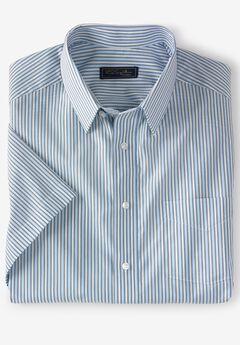 Modern Fit Broadcloth Flex Short-Sleeve Dress Shirt by KS Signature,