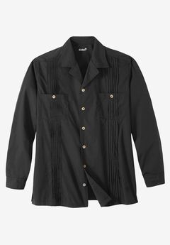 Long-Sleeve Guayabera Shirt by KS Island™,