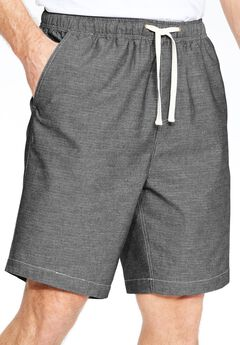 Chambray Shorts by KS Island™, BLACK CHAMBRAY, hi-res