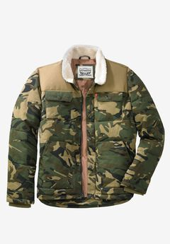 Woodsman Puffer Trucker Jacket by Levis®, CAMO TAN