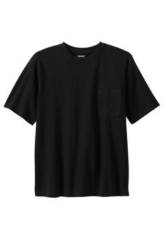 Shrink-Less™ Pocket Crewneck Tee,