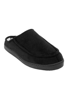 Microsuede Clog Slippers, BLACK, hi-res