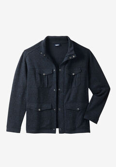 Sweater Fleece Multi-Pocket Jacket,