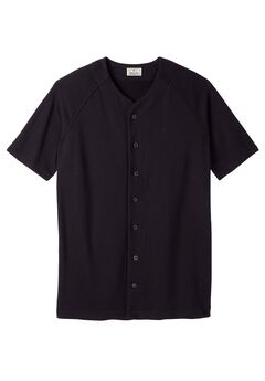 Baseball Jersey Varsity Sweats by Liberty Blues®, BLACK, hi-res