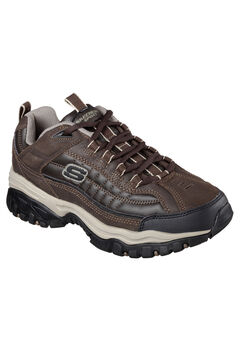 Energy Downforce Lace-Up Sneaker by Skechers®, BROWN, hi-res