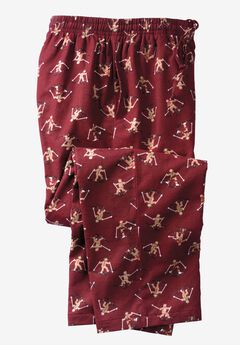 Holiday Print Flannel Pajama Pants,