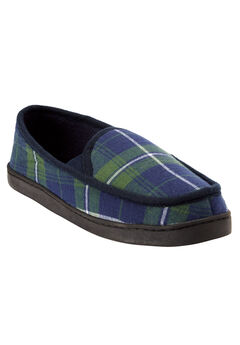 Fleece Romeo Slippers, BALSAM PLAID, hi-res