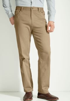 Relaxed Fit 5-Pocket Stretch Jeans by Liberty Blues®, KHAKI